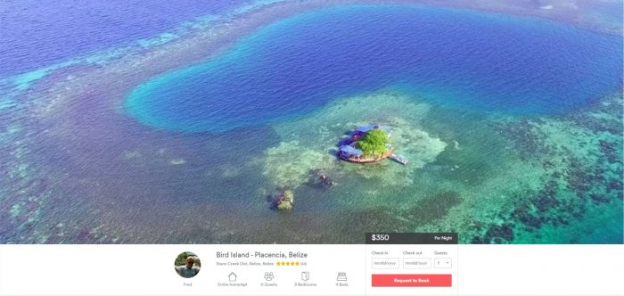 Belize Airbnb Private Island